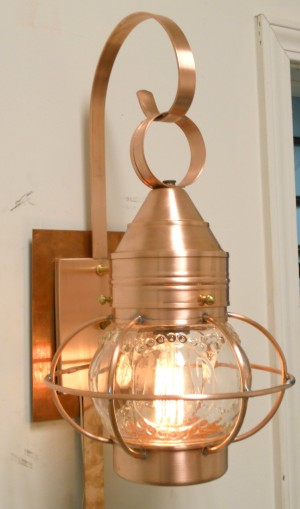 0000 Onion Wall Light with Optic Globe