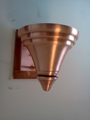 Wall Sconce shown in Raw Copper